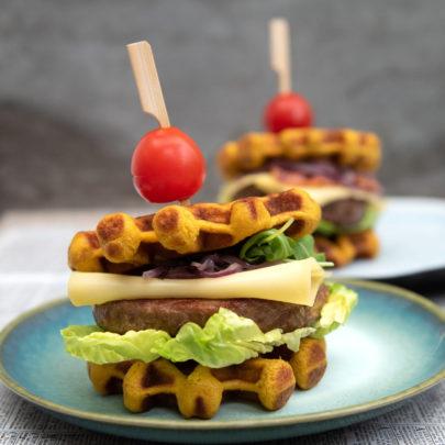 The waffle burger! Hoe gaaf is dit?